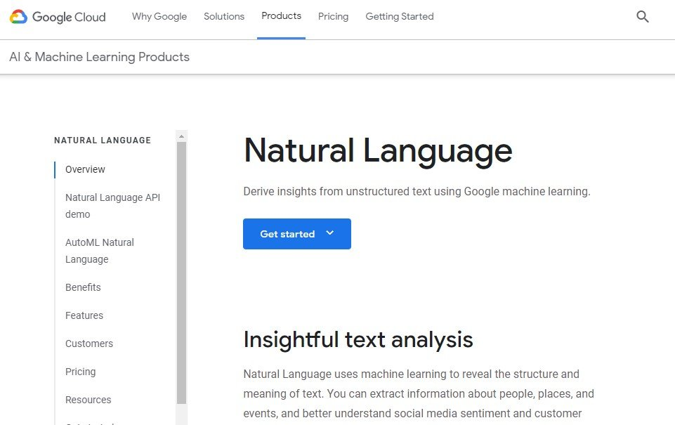 Natural Language API Demo