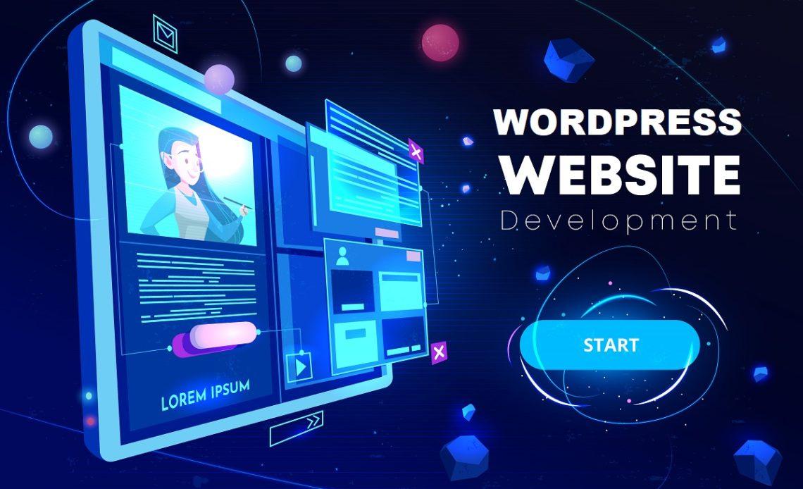 Website development banner, programming technology