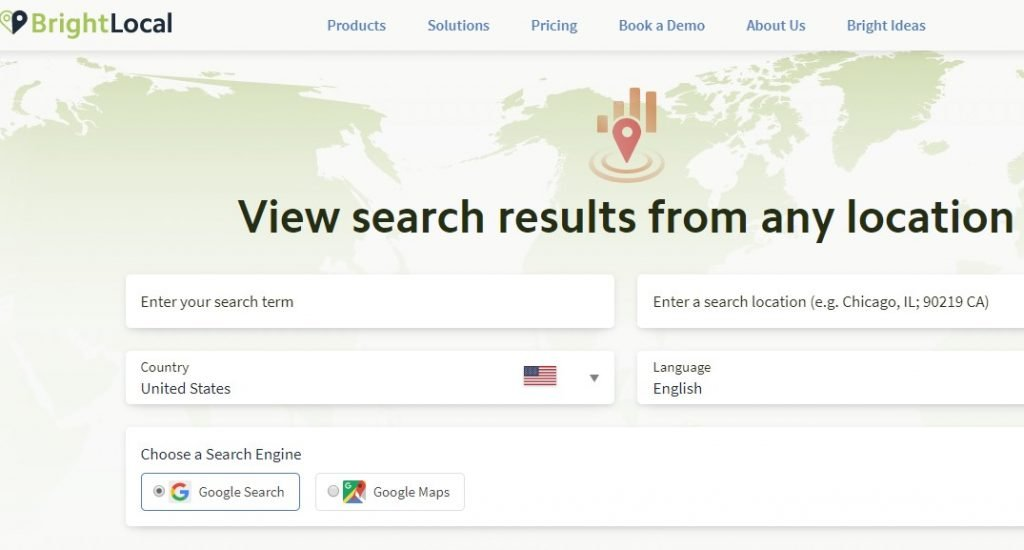 local search results checker